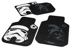 """If you find that you drag dirt into your vehicle, you can make it a little less """"dreadful"""" with these Star Wars floor mats. These car floor mats are officially Awesome!"""