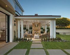 Lovely patio and fireplace