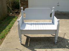 Twin Headboard Repurposed (bench)