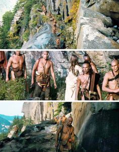 The Last of the Mohicans scenes in Chimney Rock