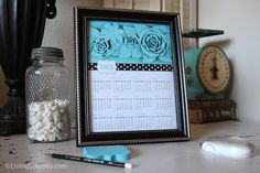 LivingLocurto.com - free printable 2012 calendar just happens to be perfect for my new craft room/office!
