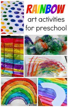 10 Rainbow Art Activities for Preschool and Toddler Kids!