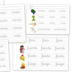 Plantillas para practicar escritura en letra manuscrita