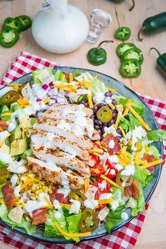 Southwestern Grilled Chicken + #Bacon Jalapeno Popper Salad