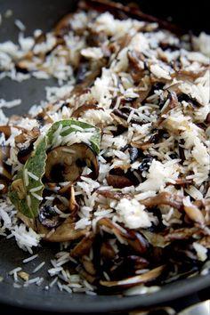 Wild mushroom pilaf