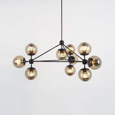 LR: Modo Chandelier - 3 Sided, 10 Globes - Furniture + Lighting - Dining
