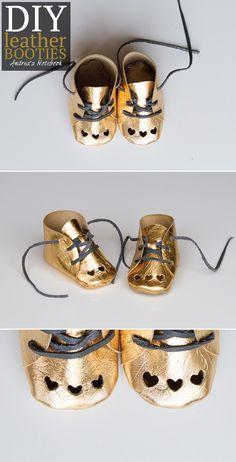 DIY leather booties by AndreasNotebook.com   #designspacestar #cricutdesignteam13