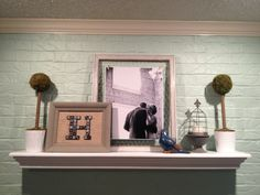 decorating a mantle, color, mantl decor, brick, decor mantl