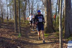 Shawn Sinclair completing the Land Between the Lakes Marathon in the VIVOBAREFOOT Neo trail