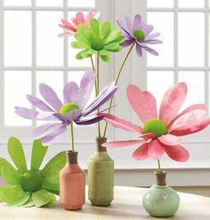 RAZ Spring Polka Dot Flower Sprays - Trendy Tree Blog - perfect for your Easter decorating. #trendytree #raz #easter