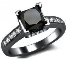 Black diamond and blackened gold!! Love it!