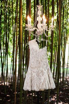 Short floral lace gown bu Anna Maier Ulla Maija