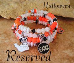 Custom Order  Halloween Jewelry Layered Bracelet by BohoStyleMe