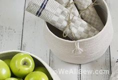 How to Make a Coiled Rope Basket – by Juliette Lanvers for WeAllSew