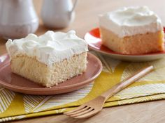 Tres Leche Cake: Alton's super-moist sheet cake is topped with freshly whipped cream. #RecipeOfTheDay