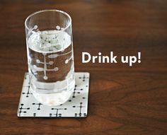 DIY Eames Dot drinking glasses