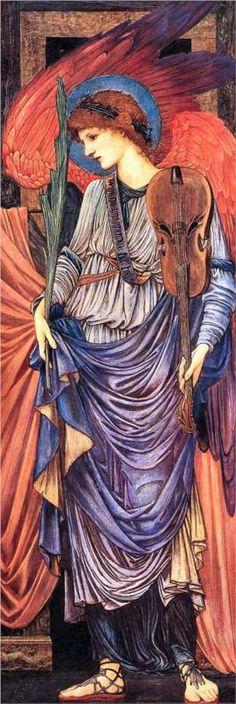 A Musical Angel, by Sir Edward Burne-Jones. Date: circa 1878-80