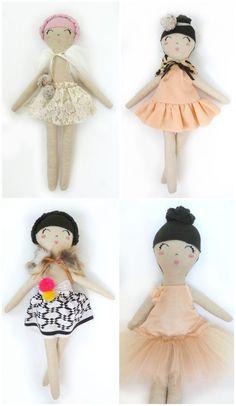 Whimsical dolls and pillows Mini Boheme.