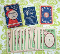 Vintage Superior Products Fortune Telling Cards  by CarnivalCrate, $30.00