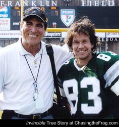 Vince Papale & Mark Wahlberg