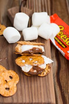 Pretzel Reese's S'more - Oh Sweet Basil