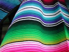 Mexican blanket as table cloth