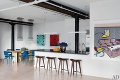 The New York apartment of actor Will Ferrell and his wife, auctioneer Viveca Paulin-Ferrell, was renovated by architect Richard Perry and decorated by Shawn Henderson Interior Design