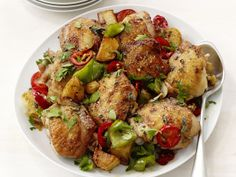 Broiled Chicken With Peppers from FoodNetwork.com