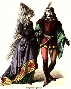 medieval clothing, burgundian court, middle ages, medieval fashion, the dress