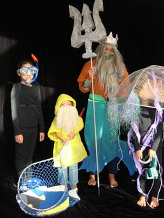 Ocean theme Halloween costumes for the whole family!