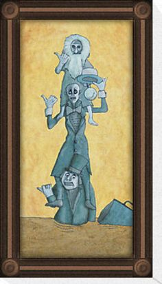 Haunted Mansion print -- Hitchhiking Ghosts in Quicksand!