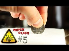 "A Quarter is pushed into a block of dry-ice.  It screams and shakes.    ""Quick Clips"" are clips of random experiments in a minute or less.    For other project videos, check out http://www.thekingofrandom.com"