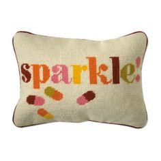 house design, sparkl, accent pillows, decor pillows, throw pillows, needlepoint pillow, biscuit, jonathan adler, happy pills