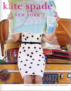 kate spade fashion, polka dots, vespa, dresses, map, the dress, black white, kate spade, bags