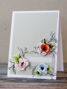 Houses Built of Cards: Painted Flower Playing Such a pretty card! hous built, flower play, painted flowers, card, paint flower