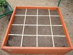 charts, square foot gardening, backyard idea, squar foot, sqft garden