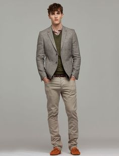 This is a great style for a young professional - and its easy to mix and match if you use neutral colors like tan, grey and earthy green.