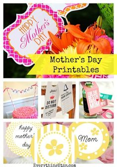 diy handmad, printables, mothers day, decorating ideas, gift hand