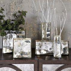 Mercury Glass Square Vases - FOUND. west elm.
