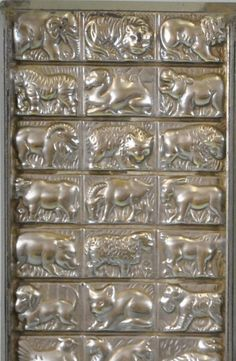 Vintage chocolate mould with animal decorations
