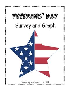 Veterans' Day - Survey and Graph math activity