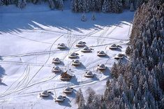 Whitepod Hotel in the Swiss Alps.