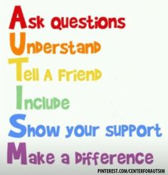 Spreading autism awareness and acceptance through education.