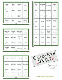 gardening square foot, garden planters, plan onecreativemommycom, squar foot, gardens, spring squar, square foot garden plan, garden idea, square foot gardening plans
