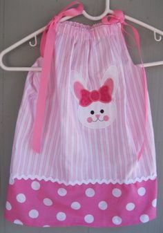 Easter Bunny Pillowcase Dress - love this!