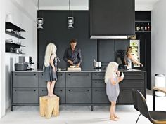 All black kitchens make a bold design statement