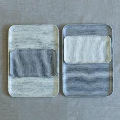 Muhs Home - Fog Linen Resin Tray