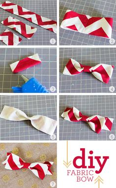 DIY Fabric Bow Tutorial from sarahhearts.com