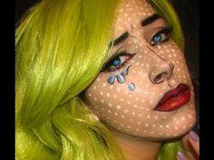 Halloween Makeup Pop Art Girl  This girl does awesome makeup tutorials