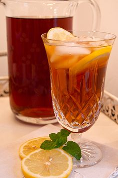 Iced tea in Lismore by Waterford Irish Crystal...Use your good things, honey...